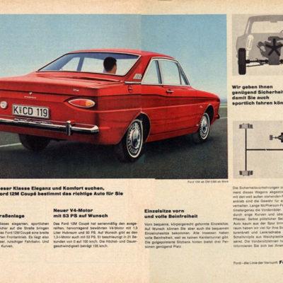 Publicidad Ford Taunus 12 M Coupé (1962).