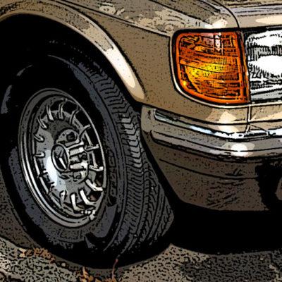 Las llantas barrocas para Mercedes.