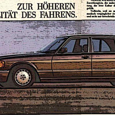 Publicidad Mercedes W126.