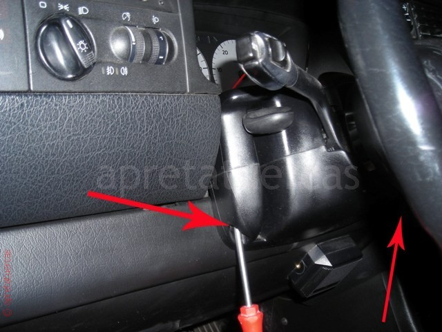 Reparación del conmutador de encendido del Volkswagen Golf 3.