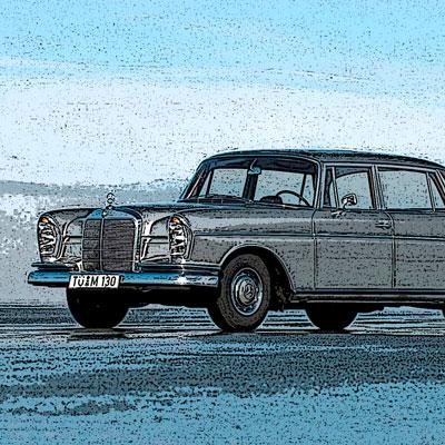 Recambios usados para Mercedes de la gama W111/W112.