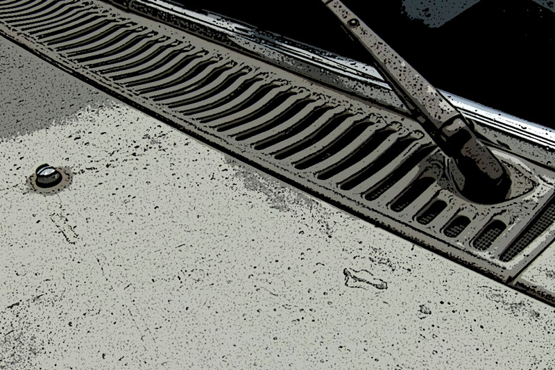 Desmontar la rejilla de ventilación del Mercedes W114/W115