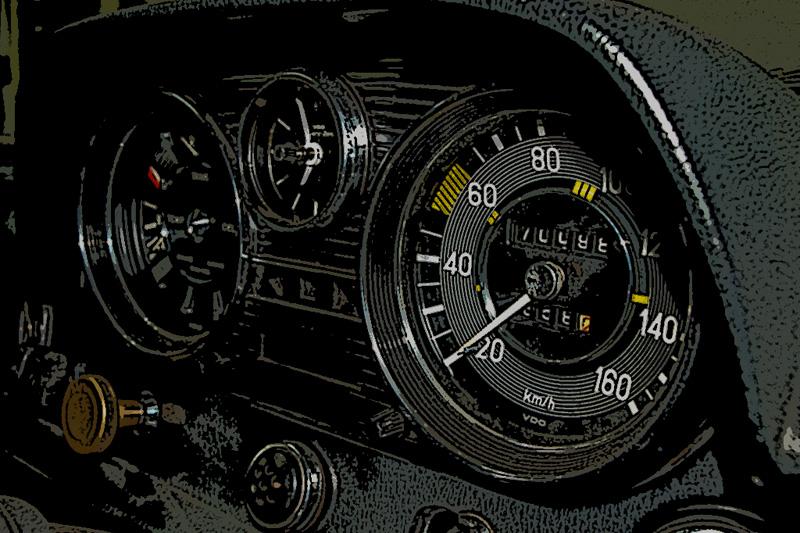 El cuadro de instrumentos del Mercedes W114/W115 – Parte I  – desmontaje